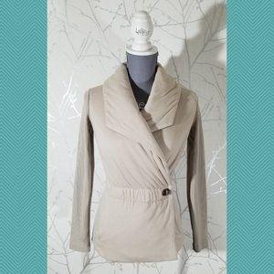 Armani Exchange Beige Insulated Wrap Jacket
